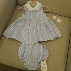 Ralph Lauren girl dress sz 3 mos NWT